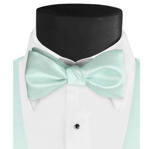 Larr-Brio-Solid-Mint-Bow-Tie