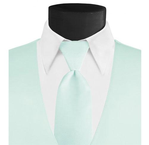 Larr-Brio-Solid-Mint-Long-Tie