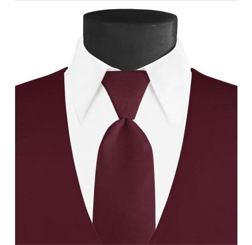 Larr-Brio-Solid-wine-Long-Tie