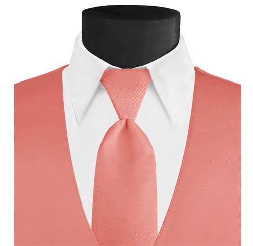 larr-brio-solid-coral-long-tie