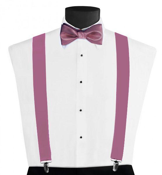 Larr Brio Modern Solid Dusty Rose Suspenders