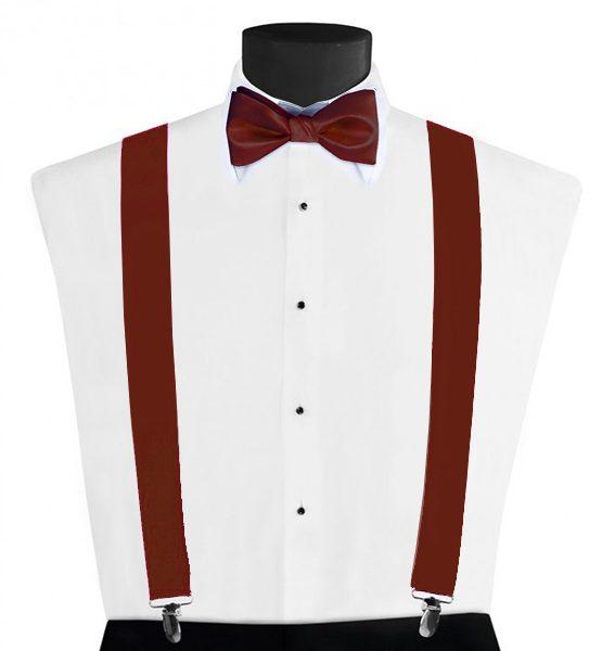 Larr Brio Modern Solid Chianti Suspenders