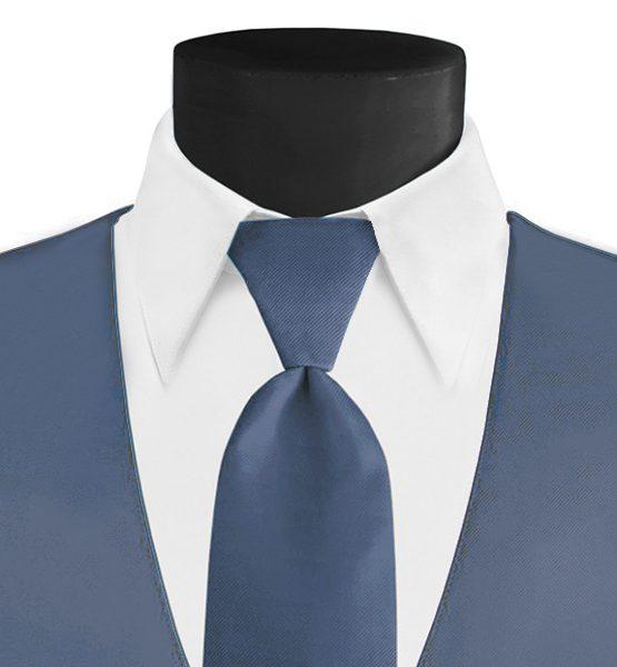Larr Brio Modern Solid Desert Blue Long Tie