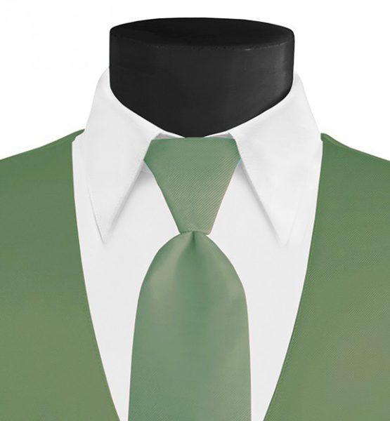 Larr Brio Modern Solid Meadow Long Tie